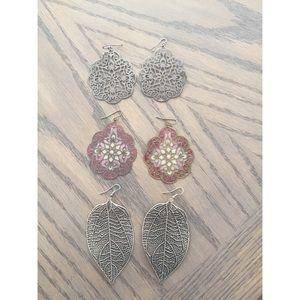 Jewelry - 3 pairs of earrings